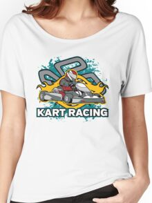 Go Kart Racing Race Track Women's Relaxed Fit T-Shirt