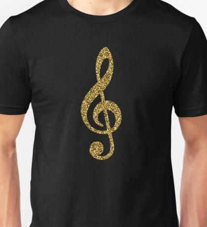 Gold Glitter Music Note Unisex T-Shirt