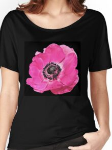 Pink Anemone Flower Women's Relaxed Fit T-Shirt