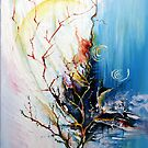 Original Landscape Tree Abstract Painting Modern Contemporary Fine Art  by simplycreate