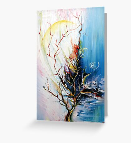Original Landscape Tree Abstract Painting Modern Contemporary Fine Art  Greeting Card