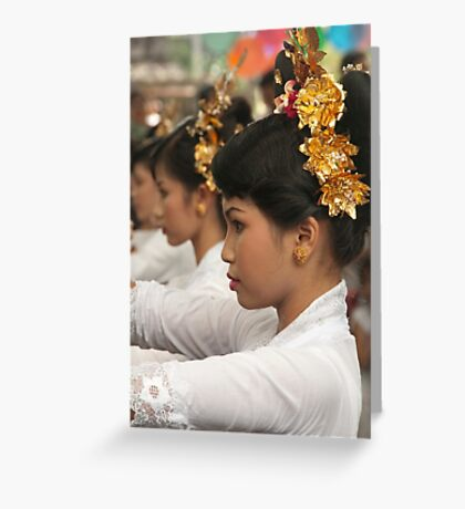 Girls in Marching Contest Greeting Card