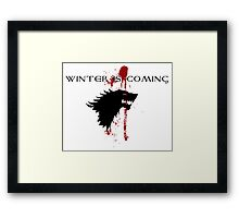 Winter is Coming House Stark Framed Print