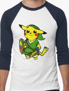 Pikalink Men's Baseball ¾ T-Shirt