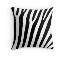 Zebra Stripes Skin Print Pattern Throw Pillow
