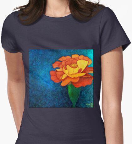 Golden petals Womens Fitted T-Shirt