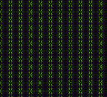 """Green & Purple Fractile"" (Patterns) by christopher r peters"
