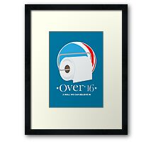 Roll the Vote! OVER! Framed Print
