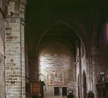 Narthex Abbey Dore England 198405170049  by Fred Mitchell