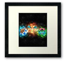Indigo starter pokemon FINAL evolutions  Framed Print