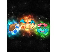 Indigo starter pokemon FINAL evolutions  Photographic Print