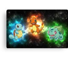 Indigo starter pokemon Canvas Print