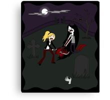 Buffy vs. Marceline Canvas Print