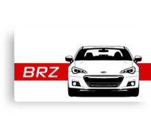 Subaru BRZ Front end with red stripe Canvas Print
