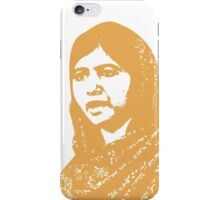 Malala Yousafzai - A Picture of Courage (Gold) iPhone Case/Skin