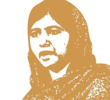 Malala Yousafzai - A Picture of Courage (Gold) by jflatnote