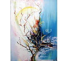 Original Landscape Tree Abstract Painting Modern Contemporary Fine Art  Photographic Print