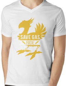 Save Gas Ride a Chocobo Mens V-Neck T-Shirt