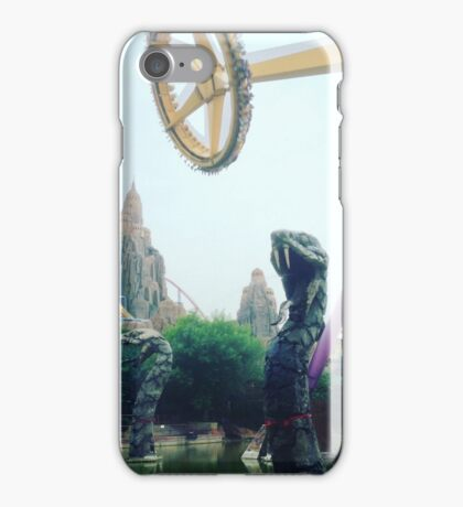 Viper Pit Snake Ride of Happy Village Amusement Park in Beijing, China iPhone Case/Skin