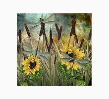 DRAGONFLIES AND SUNFLOWERS Unisex T-Shirt