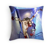 LOSS OF HUMANITY VIA CORPORATE CONTROL Throw Pillow