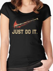 Just Do It Shirt Women's Fitted Scoop T-Shirt