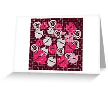 Pink Lips Heart Kiss with Love & Chocolate Abstract Greeting Card