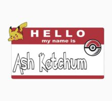 Hello... My name is Ash Ketchum Kids Clothes