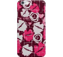 Pink Lips Heart Kiss with Love & Chocolate Abstract iPhone Case/Skin