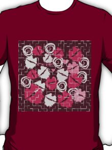 Pink Lips Heart Kiss with Love & Chocolate Abstract T-Shirt