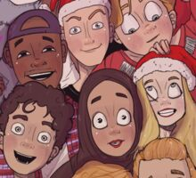 The SKAM squad at Christmas Sticker