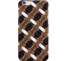 red Malus 'Radiant' crab apple blossoms #9  diagonal pattern iPhone Case/Skin