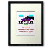 SOCJUS Framed Print