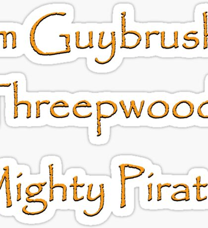 I'm Guybrush Threepwood, Mighty Pirate! Sticker