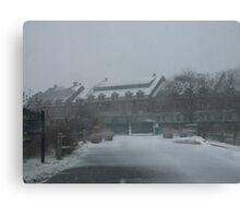 weekapaug inn - snow storm Canvas Print