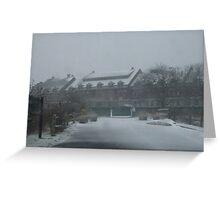 weekapaug inn - snow storm Greeting Card