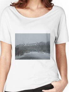 weekapaug inn - snow storm Women's Relaxed Fit T-Shirt