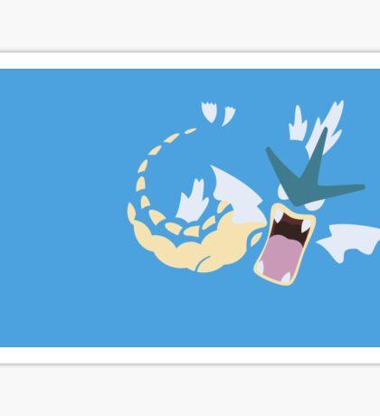 Minimalist Pokemon Gyarados Sticker