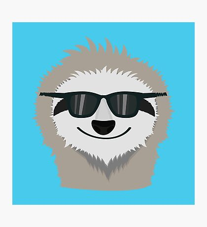 Sloth with sunglasses Photographic Print