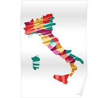 Geometric Italy Poster