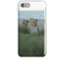 Beach chairs at the german east sea iPhone Case/Skin
