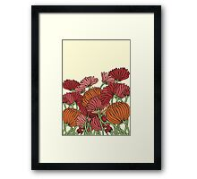 The Retro Garden Flowers Framed Print
