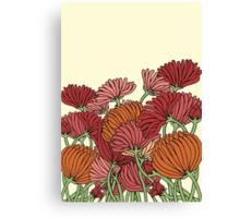 The Retro Garden Flowers Canvas Print