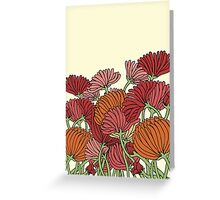 The Retro Garden Flowers Greeting Card