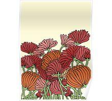 The Retro Garden Flowers Poster