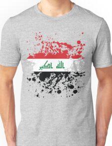 Iraq Flag Ink Splatter Unisex T-Shirt