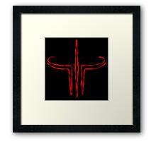 Quake Stained Framed Print