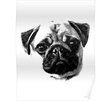 Happy Dog Engraving Poster