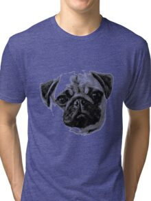 Happy Dog Engraving Tri-blend T-Shirt