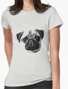 Happy Dog Engraving Womens Fitted T-Shirt